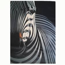 hand painted oil painting on canvas black and white zebra paintings for living room modern decoration