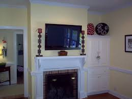 Enchanting Fireplace Mantel Ideas With Tv Above Photo Ideas