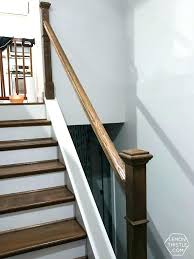 replace stair railing. Diy Handrail Replacing Stair Railing How To Install A Wooden On Split Level Stairs The Way Outdoor For Deck Replace
