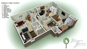 3 bedroom home design plans. 3d 3 Bedroom House Plans Home Design . E