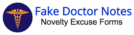 Novelty Doctors Note Fake Doctors Notes Faked Notes