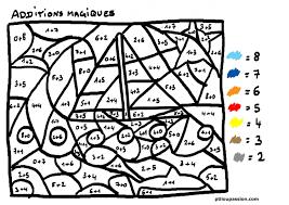 Dessin Colorier Magique Soustraction Cp Ce1