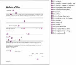 Free Subcontractor Lien Waiver Form Pretty Lien Waiver Template Images Waiver Templates General