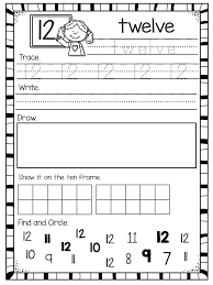 Number Worksheets for 1-20 | Teen numbers, Number recognition and ...