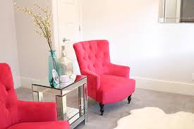 Fuschia furniture Fuchsia Bright Pink Chairs Hot Pink Chairs Chairs On Sale Furniture Sale Pink Slice Of Style New Fuchsia Chairs In My Living Room Slice Of Style