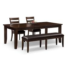 table 2 chairs. abaco table, 2 chairs and bench - brown by factory outlet table t