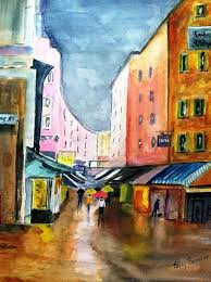 Going Downtown Painting by Polly Barrett