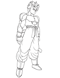 Small Picture Dragon Ball Z Goku Super Saiyan 4 Coloring Pages For Kids And