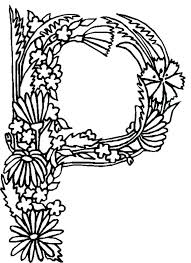 p coloring pages alphabet flowers letter for s mandala coloring pages