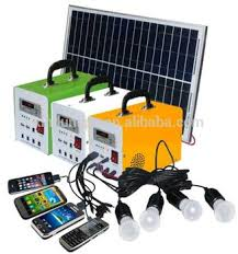Portable Solar Power Home System Energy Kit Include 4 In 1 USB Solar Power Light Kits