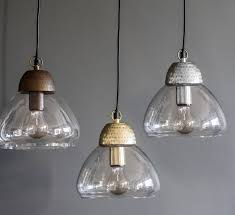 etched metal and glass pendant lights by the forest co notonthehighstreet com