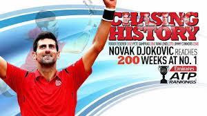 djokovic celebrates 200 weeks at no 1 in emirates atp rankings atp tour tennis