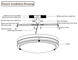 led flush mount ceiling light fixture installation drawing lightbox moreview