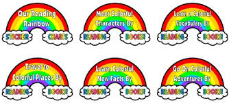 Free Printable Rainbow Facts Chart Reading Rainbow Sticker Charts Colorful Reading Incentive