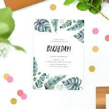 500 best sail and swan wedding invitations images on pinterest Budget Wedding Invitations Canberra tropical leaf birthday invitations watercolour green monstera leaves ferns birthday invites australia sydney perth brisbane melbourne Budget Wedding Invitation Packages