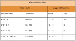 Womens Bike Size Guide Bike Bike Rider Women