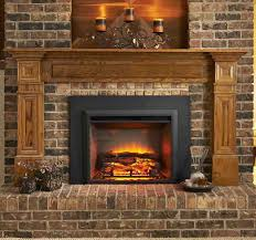 electric fireplace wall mount logs no heat rustic decor flame insert chimney free instructions amatapictures full image for heater tv stand media