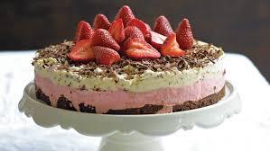 Chocolate And Strawberry Ice Cream Cake Recipe Good Food