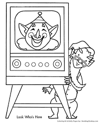 tv coloring pages. Unique Pages Kids Christmas TV Show Coloring Page For Tv Pages E