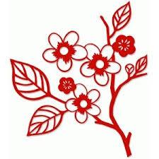 Cherry branch | Шаблоны для настенной росписи, Цветочный ...