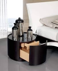 marvelous aluminum on round table for unusual nightstands with small wood rack closed big slee floor