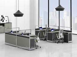 modern freestanding office workstation glass partition with mobile pedestal hf yzq321