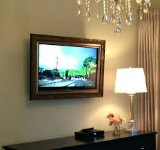 s wall mounted tv frame frames for flat screen tvs