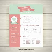 Pretty Resume Templates Best Free Download Creative Resume Templates Best Of Pretty Resume