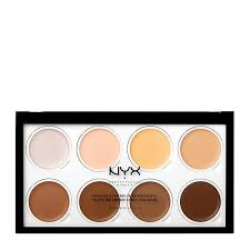 nyx professional makeup highlight contour cream pro palette 8 x 2g feelunique