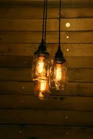 diy mason jar light fixture style