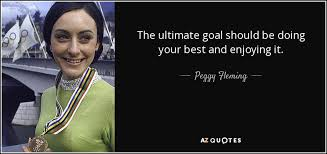 olympic athlete quote with peggy flemming