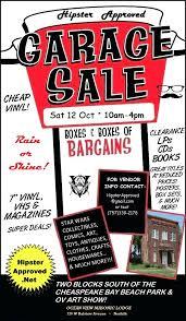 Hipster Approved Community Garage Sale 10 12 19
