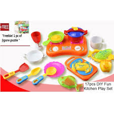 Fun Kitchen 17pcs Fun Kitchen Cooking Play Toys Set For Toddlers Kids Lazada