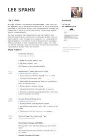 Financial Advisor Resume samples