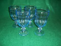 4 libbey gibraltar misty blue ice tea glass