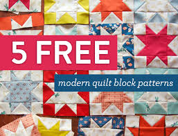 5 Free Modern Quilt Block Patterns - Suzy Quilts &  Adamdwight.com