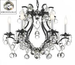 to enlarge black wrought iron crystal chandelier