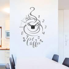 Wandtattoo Uhr Coffee Kaffee Küche Esszimmer Modern