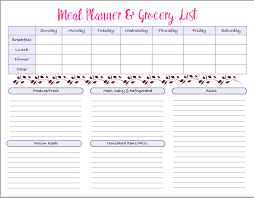 Free Weekly Meal Planner With Grocery List Weekly Meal Plan And Grocery List Printable Clean Eating Healthy