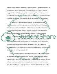 Thematic Essay Examples The Necklace An Thematic Analysis Essay Example Topics