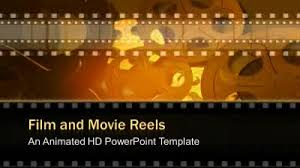 Movie Powerpoint Template Film And Movie Reels A Powerpoint Template From