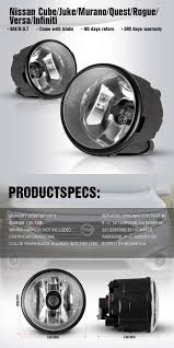 2011 Nissan Murano Fog Light Assembly Details About For Infiniti Nissan Cube Juke Murano Quest Fog Light Driving Fog Lamp Clear Lens