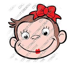 570x494 curious george with bow lips lipstick svg dxf eps jpeg format