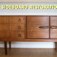 mid century modern furniture restoration. Restoring And Repairing A Mid Century Modern Style Sideboard Furniture Restoration