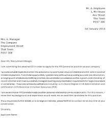 Hr Generalist Cover Letter Template Chechucontreras Com