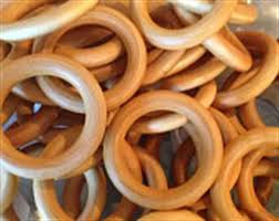 3 inch organic maple wood rings close close product front