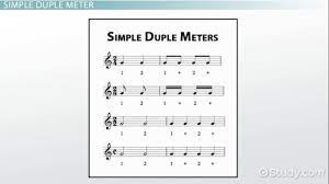 We can have 3 beats in one measure, and 4 in the next. Duple Meter Definition Example Video Lesson Transcript Study Com