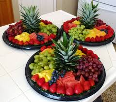 How To Create A Palm Tree Centerpiece  ThriftyFunFresh Fruit Tree Display