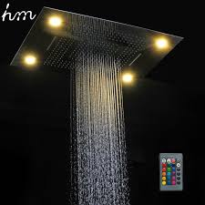 shower led lighting. 2018 Hm Multi Function Led Light Shower Head 600*800mm Ceiling Rain Remote Control Rainfall Waterfall Massage Heads 170305# From Lighting