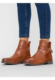vero moda ankle boots cognac round shoe tip boots women s leather 2ajlbo6h